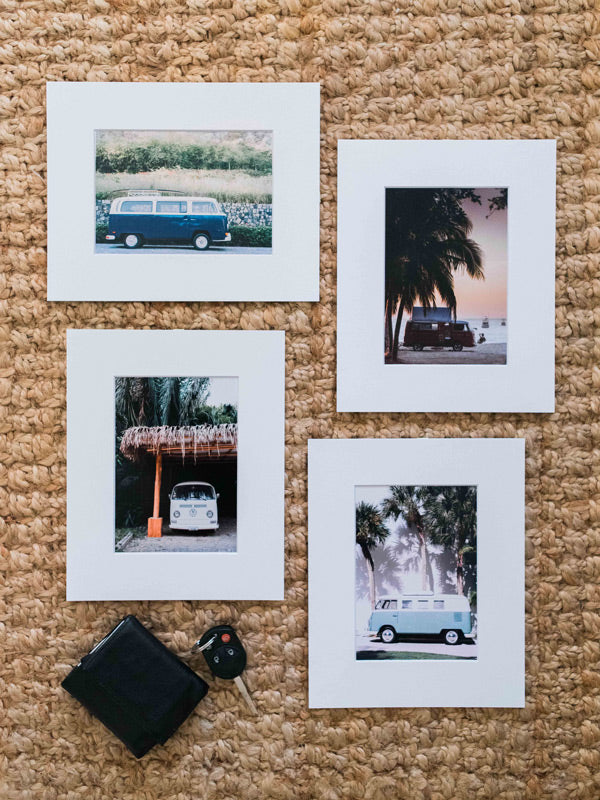 VW Buses - 5x7 Matted Prints