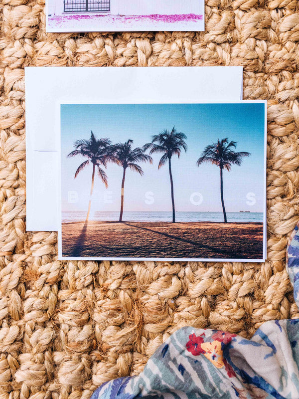 What's better than a text message from a loved one? Happy mail from a loved one! 📫💌 Grab this dreamy set of four notecards printed on divine linen card stock (blank inside) and start sending some love notes to your mom, boyfriend/girlfriend, best friend...and of course your grandma!  By Kristen M. Brown, Samba to the Sea for The Sunset Shop.