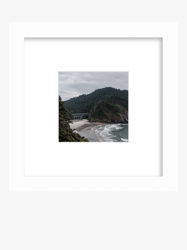 "Let's go on a road trip adventure down the Oregon Coast. C""Cape Creek"" Oregon Coast framed shelfie print by Samba to the Sea."