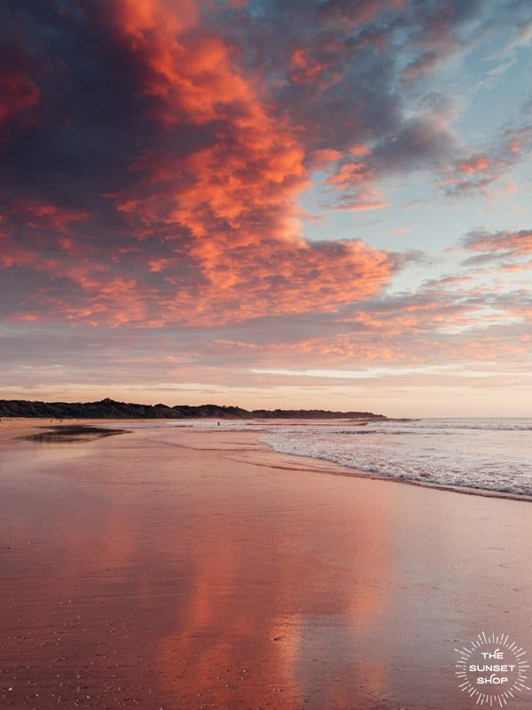 Pink sunset sky in Costa Rica. Cotton Candy sunset print by Samba to the Sea at The Sunset Shop.