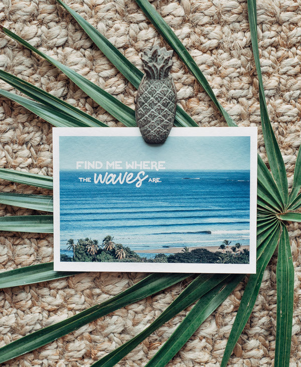 Corduroy wave lines breaking in Tamarindo Costa Rica. Find Me Where the Waves Are wanderlust image by Samba to the Sea at The Sunset Shop.