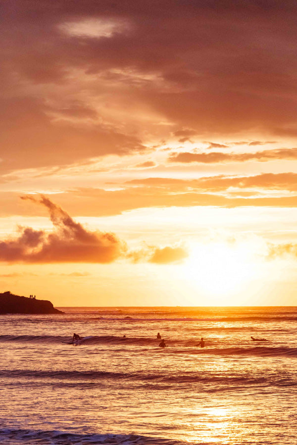 There's nothing better than ending your day with a surf and a beautiful sunset in Costa Rica. Surfer print by Samba to the Sea at The Sunset Shop.