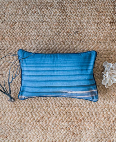 Liquid Dreams accent pillow by Samba to the Sea at The Sunset Shop. Image of corduroy wave lines in Tamarindo, Costa Rica. Photographed by Kristen M. Brown, Samba to the Sea.