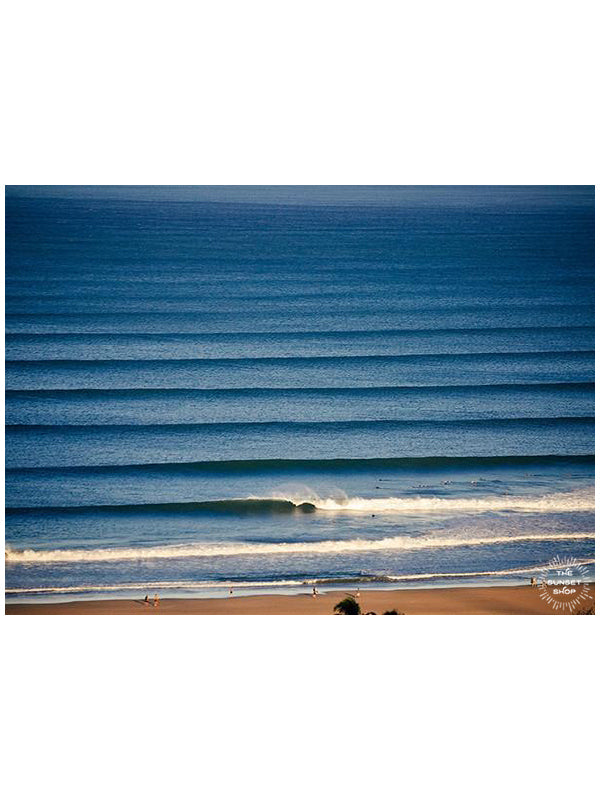 Corduroy wave lines in Tamarindo, Costa Rica. Liquid Dreams print by Samba to the Sea at The Sunset Shop.