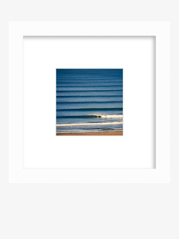 Framed wave print shelfie. Corduroy wave lines in Tamarindo, Costa Rica. Liquid Dreams print by Samba to the Sea at The Sunset Shop.