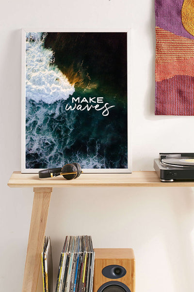 """Make Waves"" aerial wave print by Samba to the Sea at The Sunset Shop."