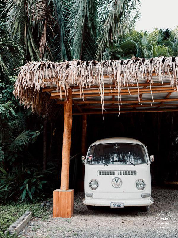 Life is simple - - surf 🏄🏼‍♀️ , jam 🎸, live life in a VW Van 🚌 . Channel those carefree, summertime beach days at home with this tropical VW bus print in Nosara, Costa Rica.  Pura Vida Bus print by Kristen M. Brown, Samba to the Sea.