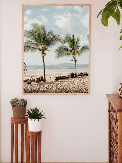 Beach palm trees in Costa Rica. Beach print at The Sunset Shop by Samba to the Sea.