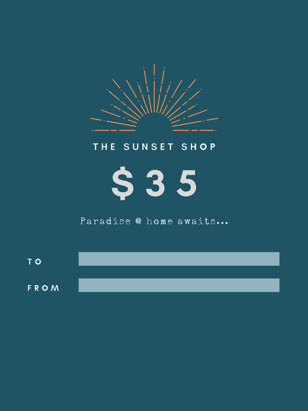 $35 gift card to The Sunset Shop.