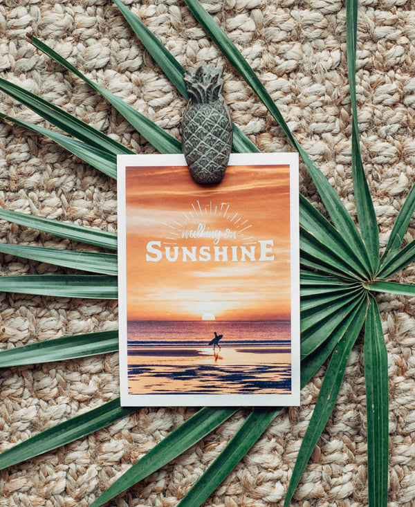 Walking On Sunshine wanderlust image by Samba to the Sea at The Sunset Shop.