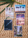 What's better than a text message from a loved one? Happy mail from a loved one! 📫💌 Grab this dreamy set of five postcards printed on 100% recycled card stock and start sending (or leaving in their bag!) some happy mail postcards to your mom, boyfriend/wife/significant other, best friend...and of course your grandma! By Kristen M. Brown, Samba to the Sea for The Sunset Shop.