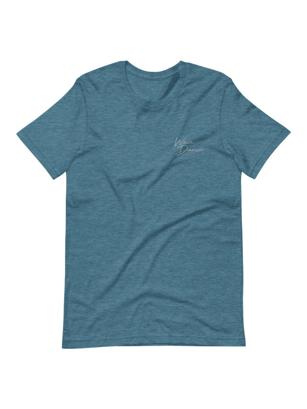 Wave Dancer Embroidered Tee - Deep Ocean