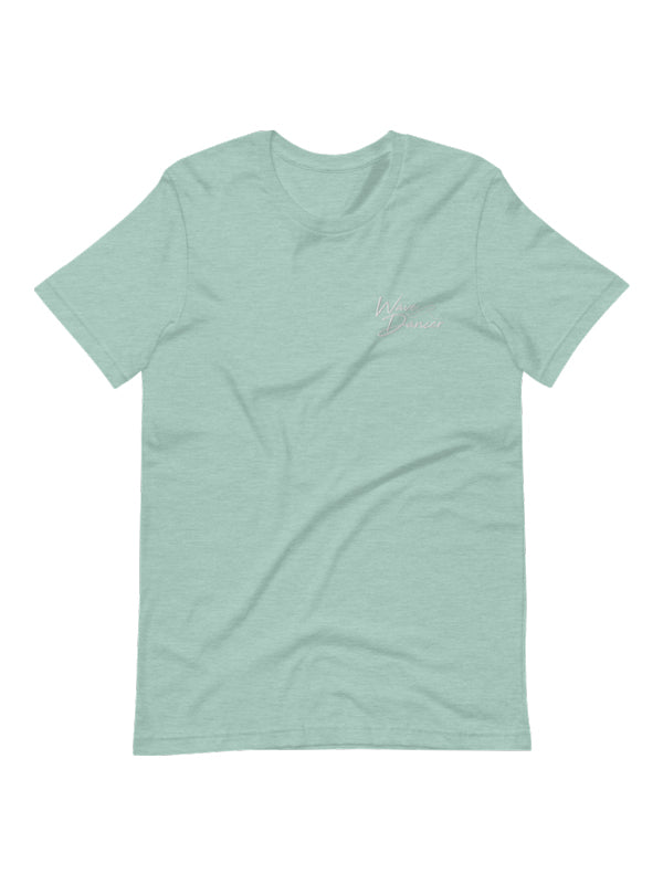 Wave Dancer Embroidered Tee - Sea Glass