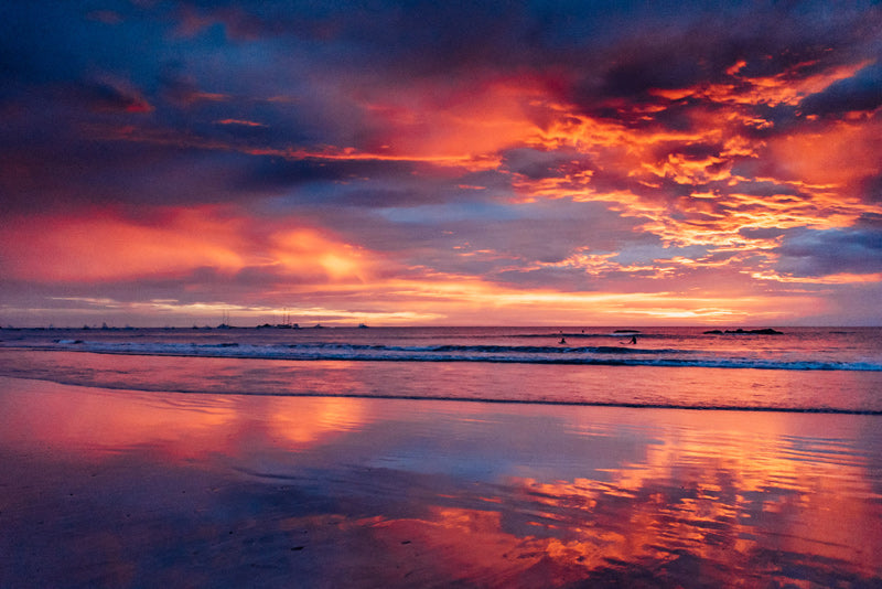 Pink sunset sky in Costa Rica. Wish You Were Here sunset print by Samba to the Sea at The Sunset Shop.