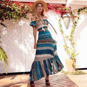 361150c9e6d8 Two Piece Bohemian Floral Set, Women's Clothing Set - olibie