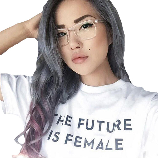 Tumblr Feminist Inspirational T Shirt The Future is Female T-Shirt Girls Can Do Anything Girl Power Tops