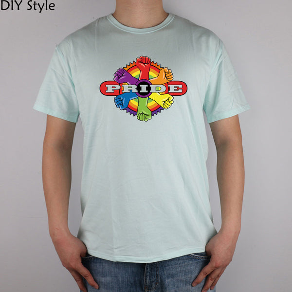 Gay rainbow power PRIDE T-shirt cotton Lycra top 3148 Fashion Brand t shirt men new high quality