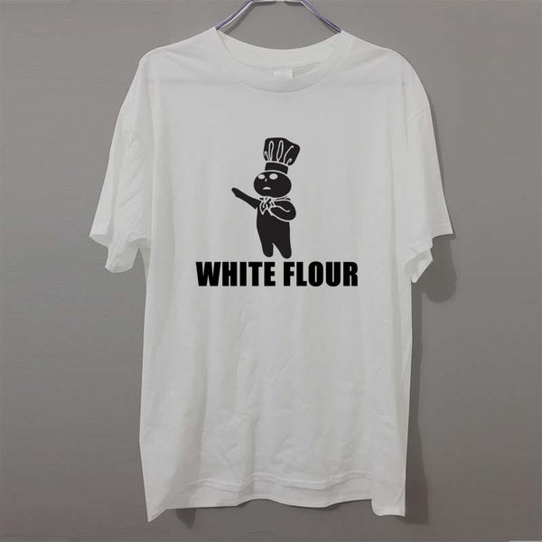 Fashion New T-shirts Men Short Sleeve White Flour White Power Spoof Political Humor Rude Chef T Shirts Male Undershirts Tshirts