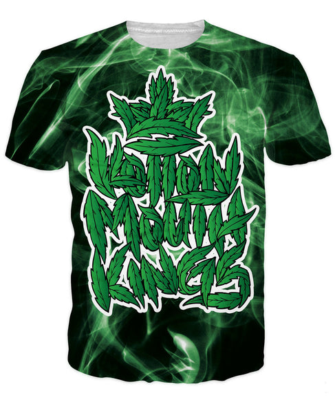 Hidden Stash T-Shirt green smoke green leaves weed leaf 3d print t shirt outerwear tees  tops hipster for unisex women men