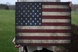 American Flag Photo Pallet