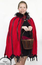 Steampunk-Style Leather & Suede Cape