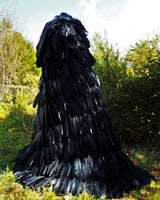 "The ""Raven"" Black Feather Cape"