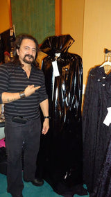 Horror legend Tom Savini, with his purchase of our stunning Modern Day Dracula Cape!