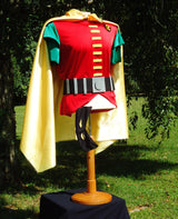 "An Ode to the ""Original Robin"" Costume - Cape, Tunic, Gloves, Mask, Belt & Briefs"