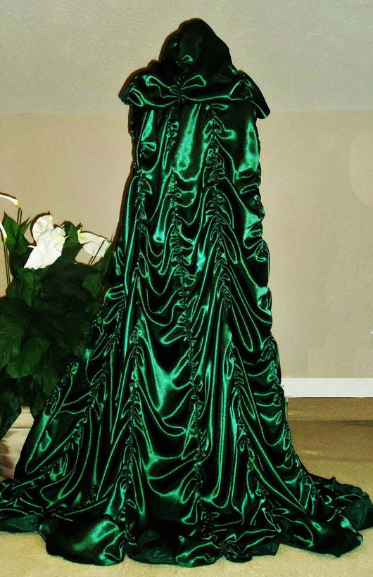 Cemetery Green Lily Munster-Inspired Casket Cape