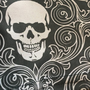 Extra close up of skull wallpaper print dress