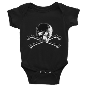 skull and crossbones baby onesie