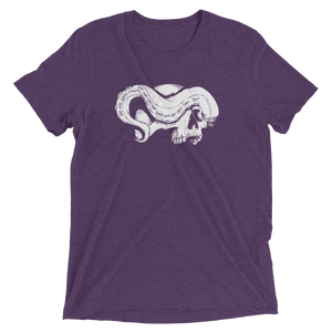 Purple skull and tentacle short sleeve shirt