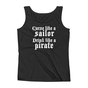 curse like a sailor tank flat lay