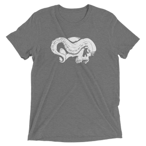 Grey skull and tentacle short sleeve shirt