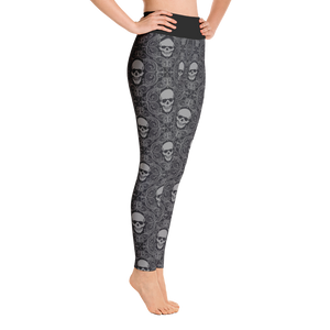 Side view skull print yoga leggings