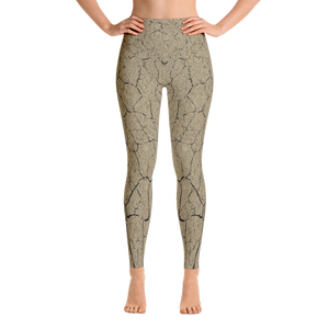 Photo of desert floor print burning man pants or yoga leggings