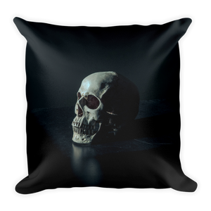 Throw pillow with single skull