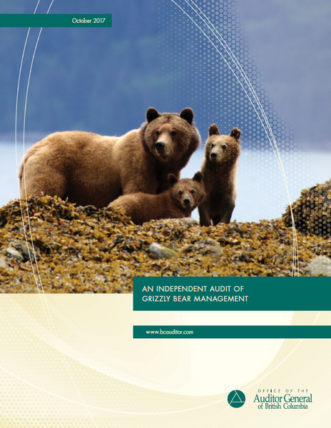 RELEASE: BC Auditor General Critiques Province's Grizzly Bear Management