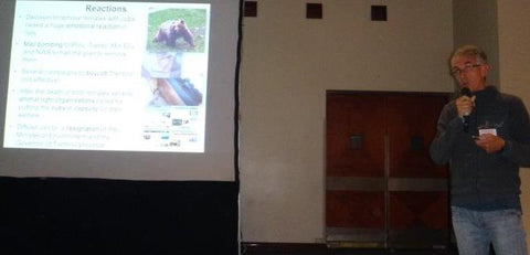 Dr. C. Groff discusses human reactions after the successful reintroduction of brown bears in Trentino, Italy.