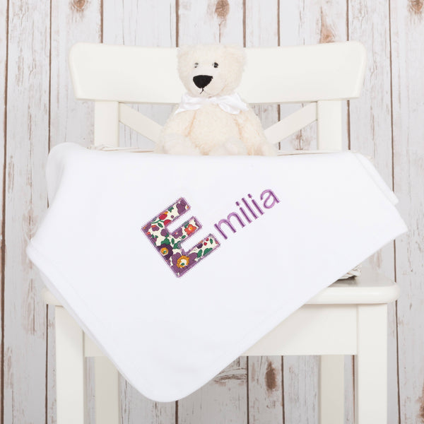 Personalised Liberty Baby Name Blanket,Baby Blankets - Betty Bramble