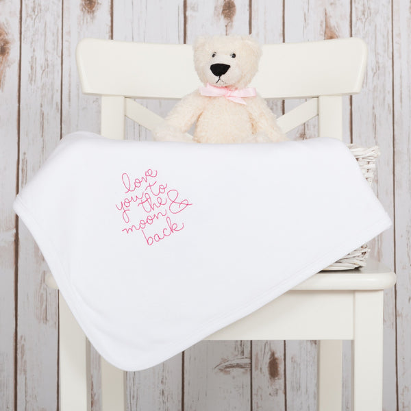 Love You To The Moon Baby Blanket,Baby Blankets - Betty Bramble