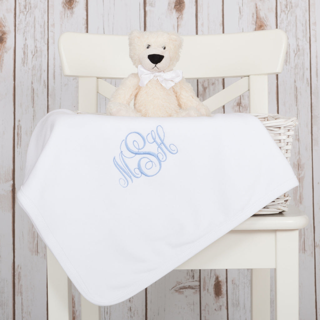 Personalised Monogram Initials Baby Blanket,Baby Blankets - Betty Bramble