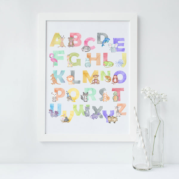 Alphabet Animal Nursery Print,Art Print - Betty Bramble