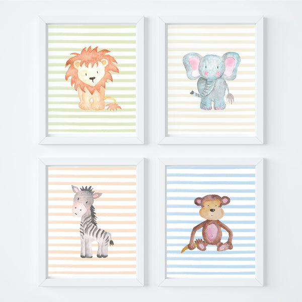 Animal Safari Nursery Art Print Set,Art Print - Betty Bramble