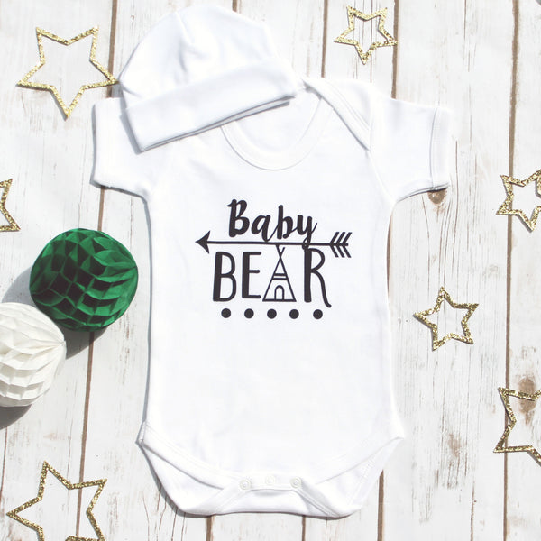 Baby Bear Bodysuit Gift Set, - Betty Bramble