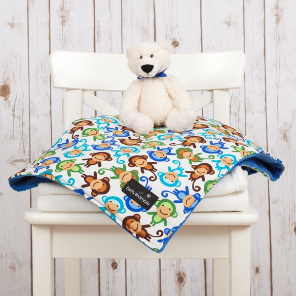 Cheeky Monkeys Luxury Blanket,Baby Blankets - Betty Bramble