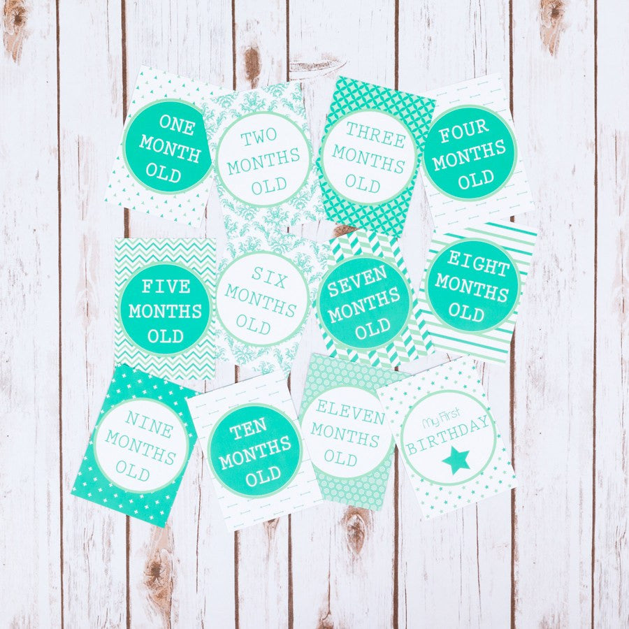 Green Cards for Baby Milestone Events,Baby Shower - Betty Bramble