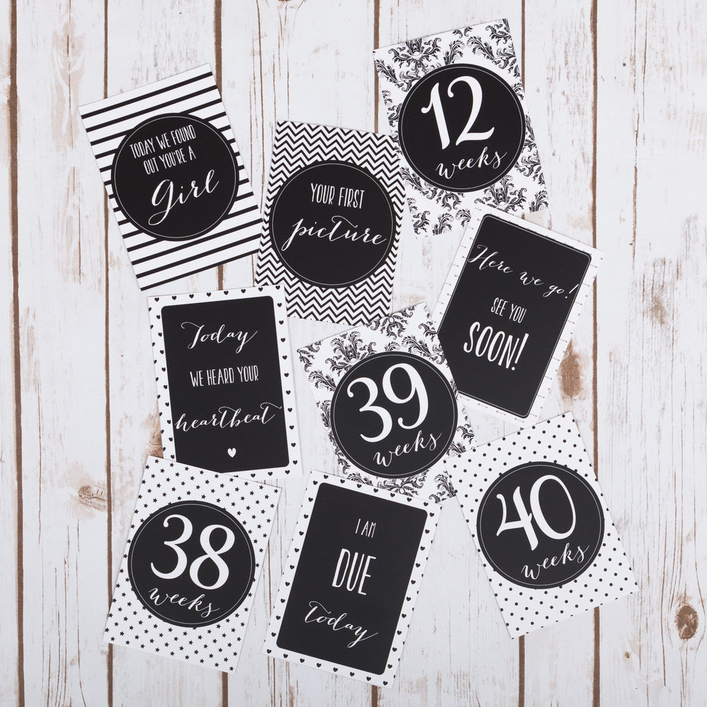 Pregnancy Bump Milestone Cards,Baby Shower - Betty Bramble