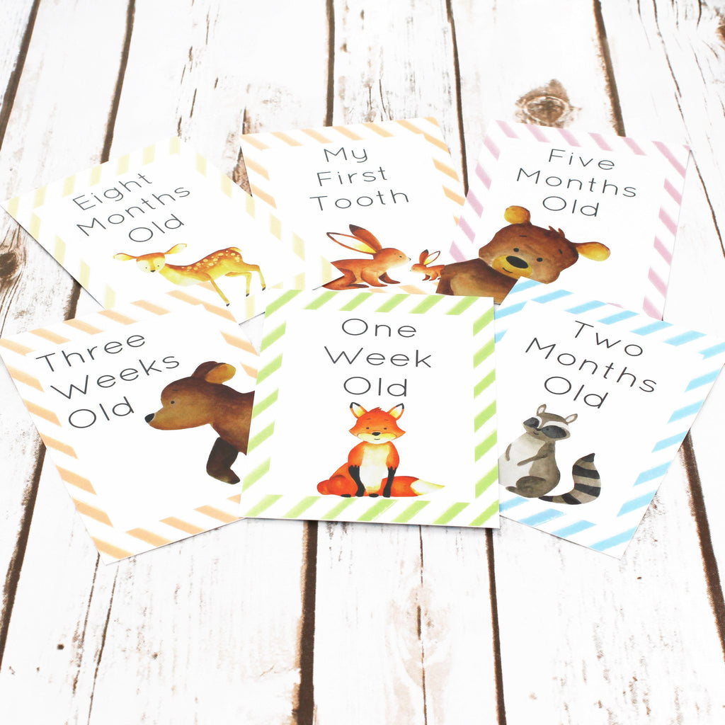 Woodland Cards for Baby Milestone Events,Baby Shower - Betty Bramble