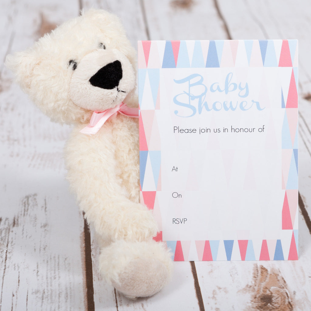 Geometric Baby Shower Invitations - Betty Bramble